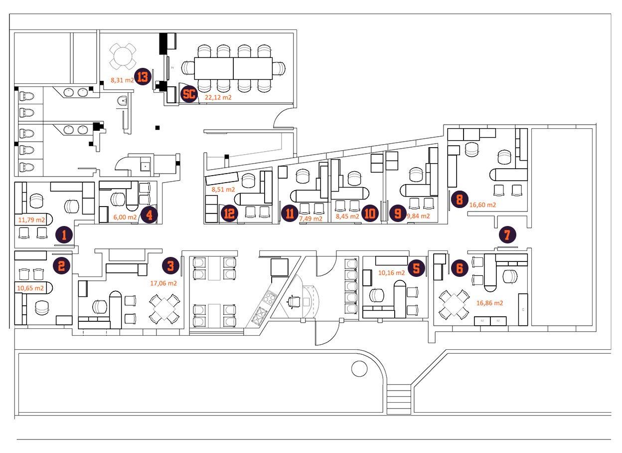 Oficinas centro empresarial del este barquisimeto for Areas de una oficina